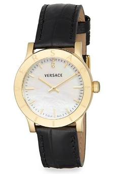 Versace - Acron Mother-Of-Pearl Leather Watch
