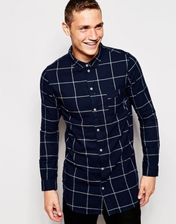 Asos - Another Influence Flannel Windowpane Check Shirt