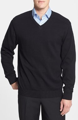 Cutter & Buck - Broadview Cotton V-Neck Sweater
