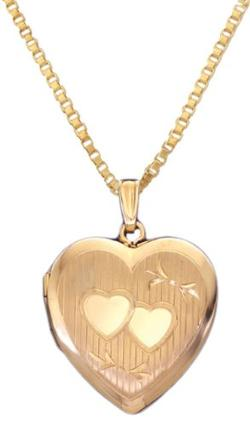 Watch Galore  - Heart Locket And Box Chain Necklace