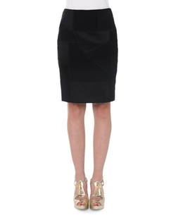 Moschino   - High-Waist Patchwork Pencil Skirt