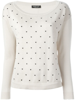 Twin-Set   - Polka Dot Print Sweater
