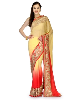 Fabroop - Marvel Chiffon Shaded Saree