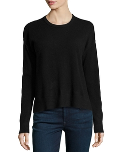 Central Park West - Cashmere Boxy Crew-Neck Sweater