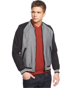 Edge by WD-NY  - Colorblocked Varsity Jacket