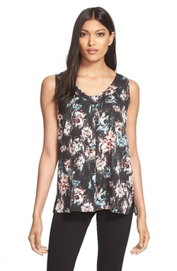 Classiques Entier - Ruched V-Neck Stretch Silk Top