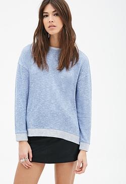 Forever 21 - Marled Contrast-Trimmed Sweatshirt