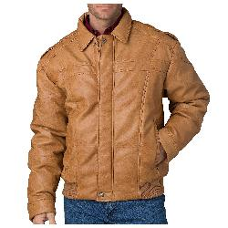 Cripple Creek  - Antiqued Jacket - Faux Leather