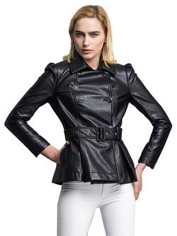 Clothink - Double Breasted PU Jacket
