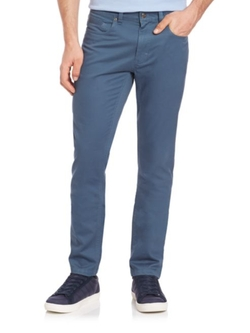 Saks Fifth Avenue Collection  - Pima Cotton Straight-Leg Pants
