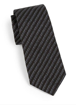 Theory  - Roadster Degremont Striped Tie