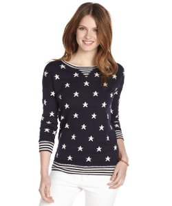 Autumn Cashmere  - Stars And Stripes Crewneck Sweater