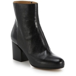 Maison Margiela - Block-Heeled Leather Booties