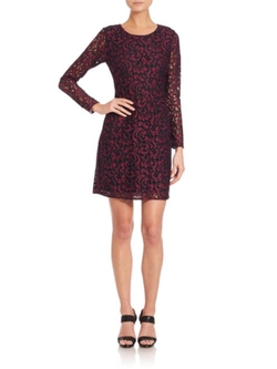 Shoshanna  - Two-Tone Lace Brooklyn Dress