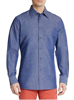 Corneliani  - Cotton/Linen Chambray Sportshirt