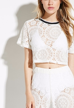 Forever21 - Jaded London Crochet Lace Crop Top