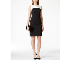 Kasper  - Colorblocked Sheath Dress