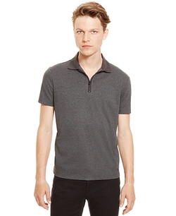 Kenneth Cole - Reaction Quarter-Zip Polo Shirt
