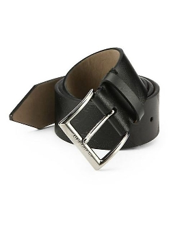 Burberry  - Embossed Leather Belt