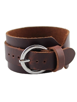 Romwe - Vintage Brown Leather Bracelet