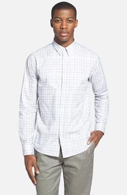 Theory - Slim Fit Plaid Sport Shirt
