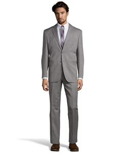 Yves Saint Laurent - Grey Twill Wool 2-Button Suit