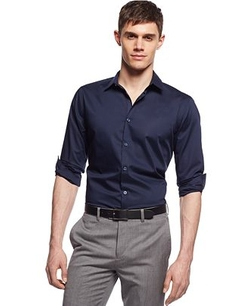 Alfani RED  - Holden Stretch Solid Shirt