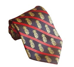 Pineapple Palaka - Hawaiian Pineapple Necktie