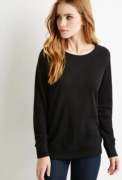 Forever 21 - French Terry Raglan Sweatshirt