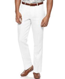 Tasso Elba  - Linen Flat Front Trouser Pants