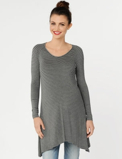 Isabella Oliver  - Long Sleeve Scoop Neck Maternity Tunic