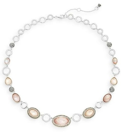 Judith Jack  - Abalone & Sterling Silver Collar Necklace