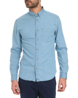 Wrangler - Light Blue Chambray Shirt