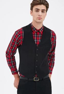 21Men - Satin-Back Suit Vest