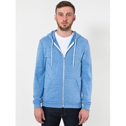 American Apparel - Tri-Blend Full Zip Terry Hoodie Jacket