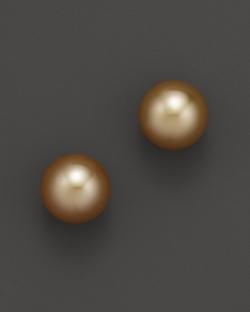 Tara Pearls - Golden South Sea Cultured Pearl Stud Earrings