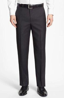 Santorelli - Flat Front Wool Trouser