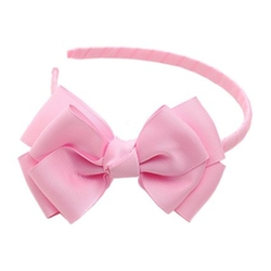 Sophias Style - Light Pink Ribbon Bow Hairband