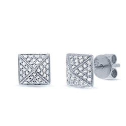 The Jewelry Master - Diamond Pave Pyramid Earrings