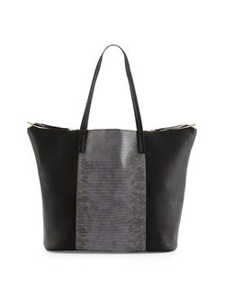 Neiman Marcus   - Nico Lizard-Embossed Tote Bag