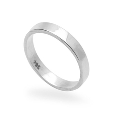 Double Accent - Classic Plain Flat Band Ring