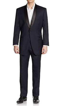 Ike Evening By Ike Behar  - Regular-Fit Wool Tuxedo Suit