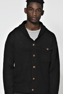 Boohooman  - Shawl Neck Cardigan