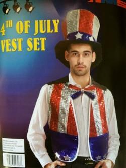 HM Smallwares -  Uncle Sam Bowtie And Hat Set
