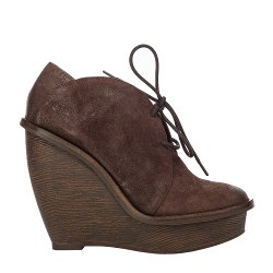 ARC - Woodgrain Wedge Distressed Suede Chukka Booties