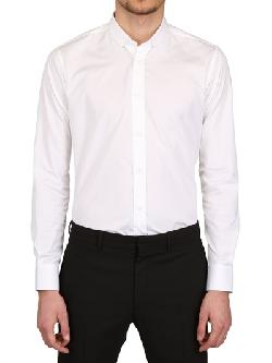 SAINT LAURENT  - COTTON POPLIN BUTTON DOWN SHIRT