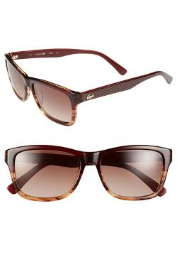 Lacoste - 55mm Rectangular Sunglasses