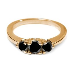 Gem Stone King - Yellow Gold Plated Ring