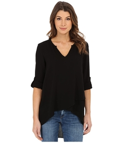 Karen Kane - Split Neck Asymmetrical Hem Top