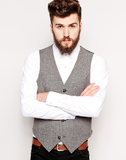 Asos - Slim Fit Tweed Vest